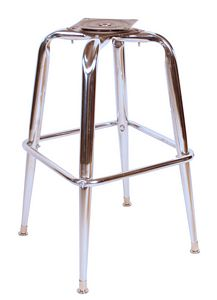 Chrome Cross Bar Stool Frame Bar Stools And Chairs