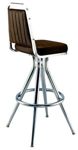 Channeled Chair Bar Stool