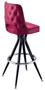 Tufted Cut Out Bar Stool