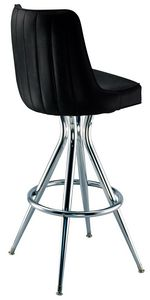 Channel Back Bar Stool