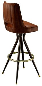 Cut Channel Back Bar Stool