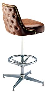 Rolled Pedestal Bar Stool