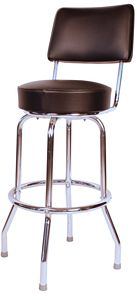 Black Bar Stool with Back
