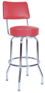 RSC Red Bar Stool with Back