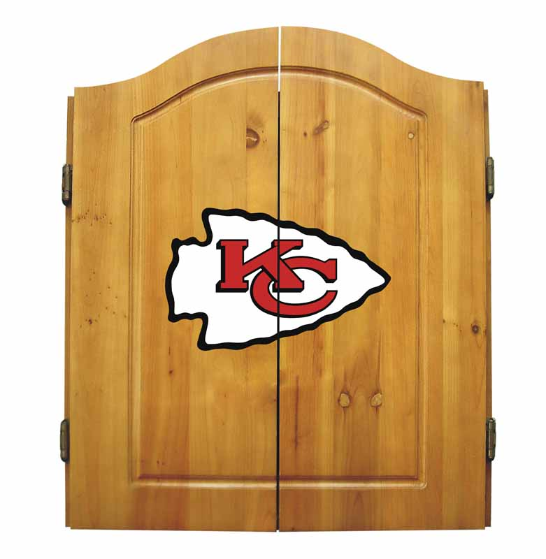 Imperial Kansas City Chiefs Dart Cabinet