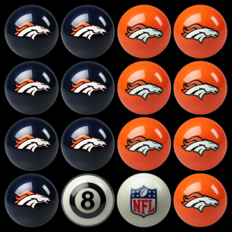Denver Broncos Pool Balls Broncos Billiards Balls