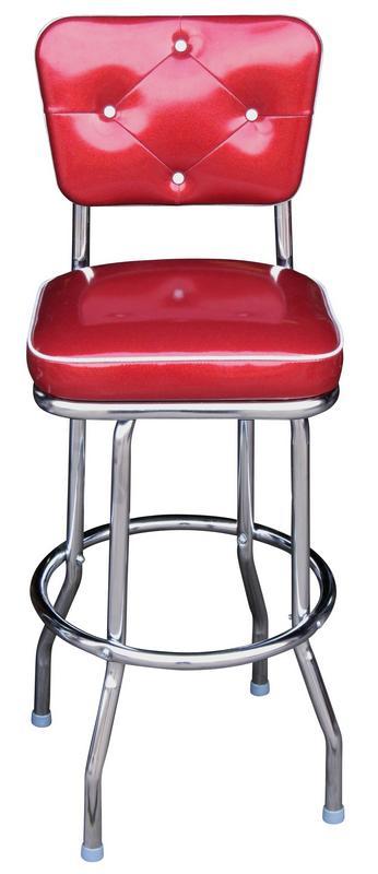 Diner Chair Style Bar Stool Chrome Bar Stool
