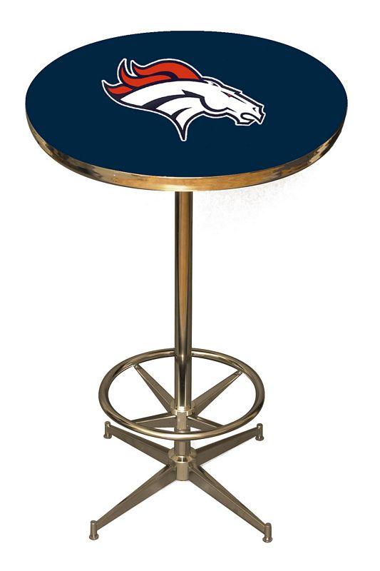 Denver Broncos Pub Table Denver Bar Table Broncos Logo