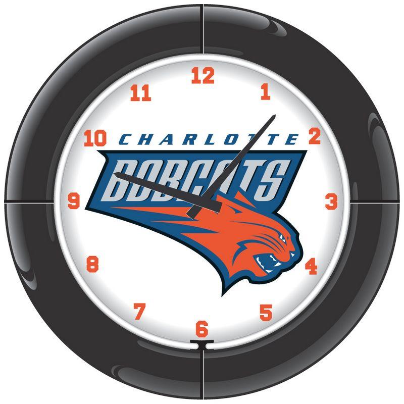 Charlotte Bobcats Neon Clock