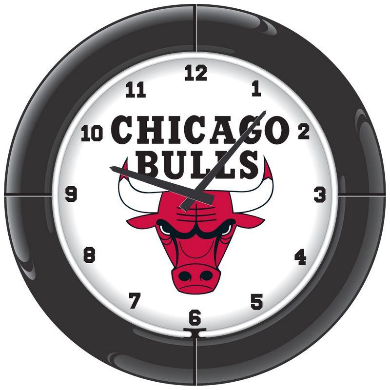Chicago Bulls Neon Clock