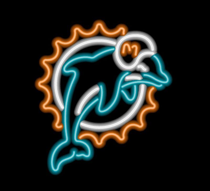 Miami Dolphins Neon Sign Miami Dolphins Neon