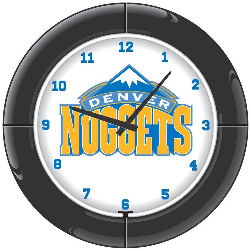 Denver Nuggets Neon Clock