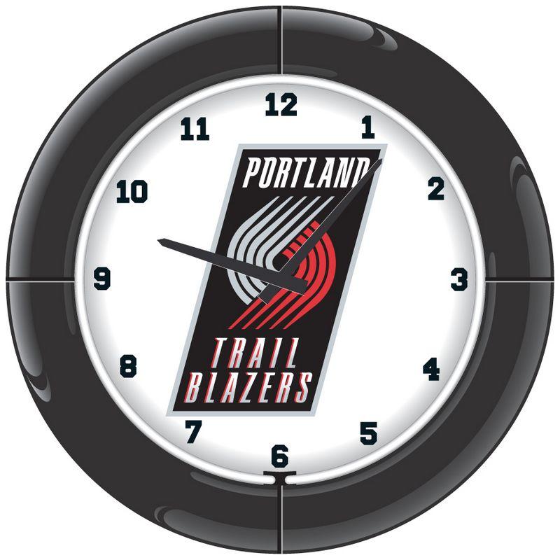 Portland Trailblazers Neon Clock