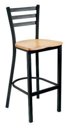 Metal Ladder Back Care Stool