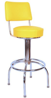 Roswell Stool with Back