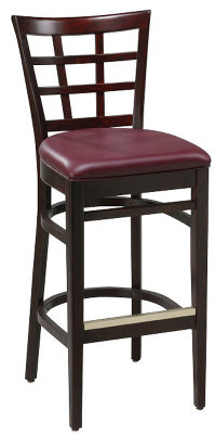 Window Back Bar Stool