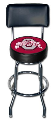 SPORTS FAN PRODUCTS Ohio State Bar Stool w/ Back