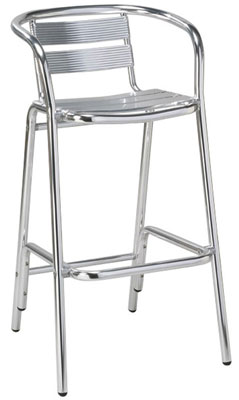 Charmant Outdoor Aluminum Bar Stool