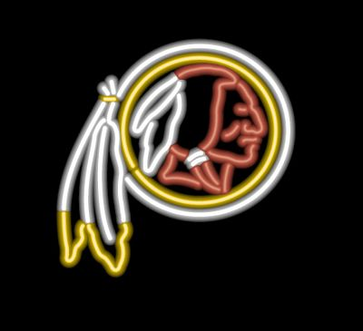 Washington Redskins Neon Signs