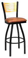 Slim-Slat Bow Frame Stool
