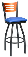 Slat Bow Frame Bar Stool