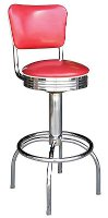Deluxe Roswell Diner Stool with Back