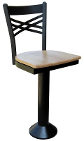 Double Cross Counter Stool