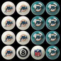 Miami Dolphins Pool Balls Miami Dolphins Billiards Balls
