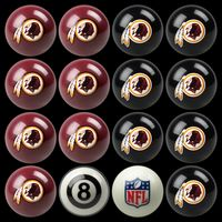Washington Redskins Pool Balls