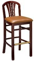 Fan Back Bar Stool