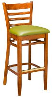 Custom Ladder Back Bar Stool