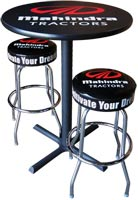 Logo Table with Bar Stools