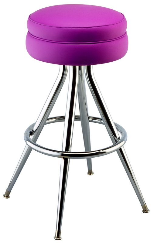 Deluxe Cushion Bar Stool Round Seat Bar Stool Upholstered Stools