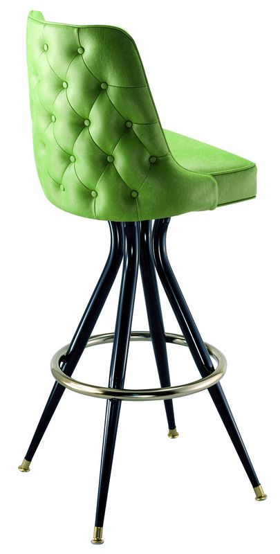 Retro Tufted Bucket Stool