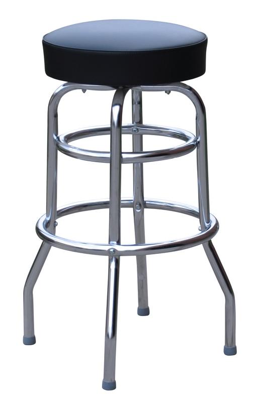 Red Tufted Bar Stool Dakota Backed Adjustable Barstool