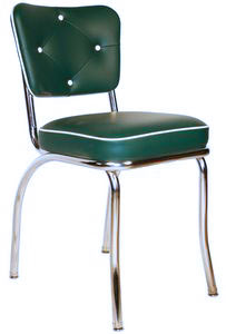 Retro Diner Chair - Forest