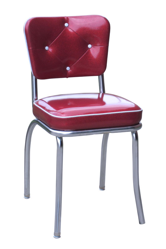 Diamond Tufted Diner Chair