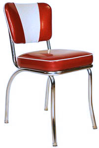 Delicieux V Back Diner Chair Red