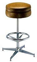 Round Pedestal Bar Stool