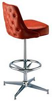 Tufted Pedestal Bar Stool