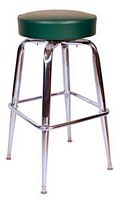 Chrome Bar Stool Green