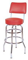 Red Stool with Back