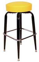 Yellow Steel Swivel Stool