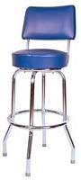 Blue Bar Stool with Back
