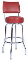 Wine Bar Stool with Back