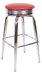 Diner Counter Stool Red
