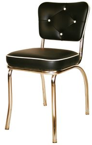 Retro Diner Chair - Black