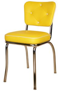 Tufted Diner Chair Yellow