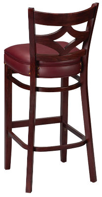 Diamond Cut-out Bar Stool