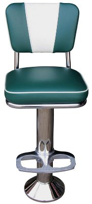 V-Back Mounted Diner Stool